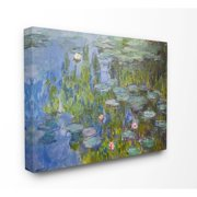 The Stupell Home Decor Collection Monet Impressionist Lilly Pad Pond Painting Canvas Wall Art