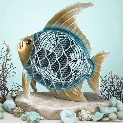 Deco Breeze Tropical Fish Figurine Table Top Fan