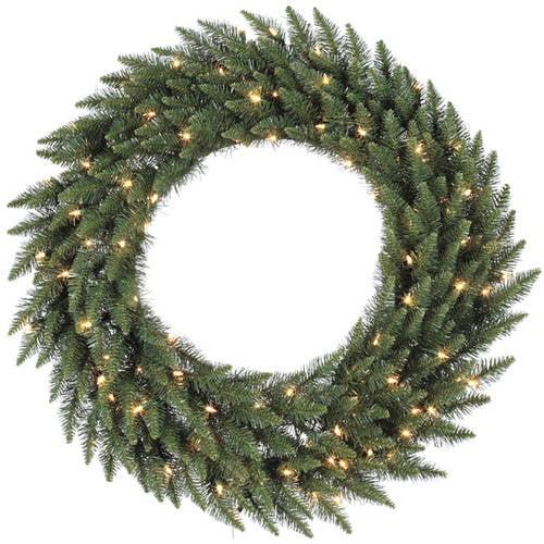 "Vickerman 84"" Camdon Fir Artificial Christmas Wreath with 600 Clear Lights"