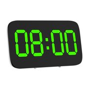 """3.5"""" Modern Digital LED Display Desk Clock Alarm Snooze Voice Control Timer"""