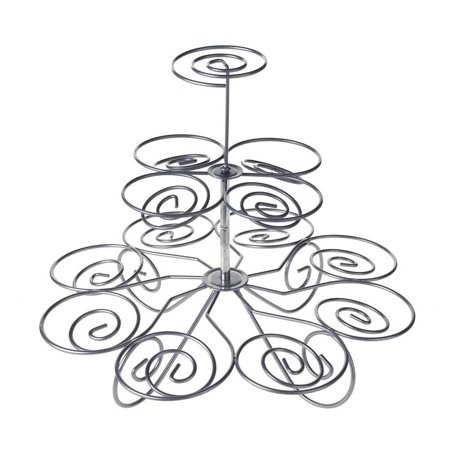 Spiral Metal Wire Cupcake Holder, 3-tier, 9-1/2-Inch - Cupcake Rack