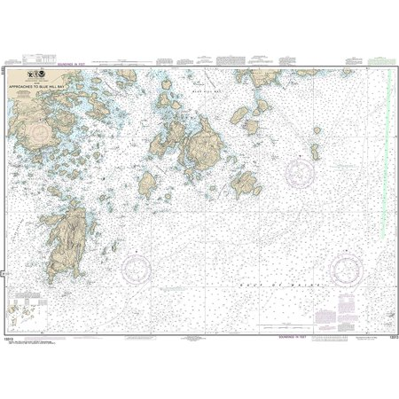 NOAA Chart 13313 Approaches to Blue Hill Bay: 35.56