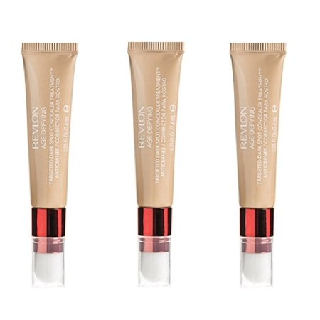 Revlon Age Defying Targeted Dark Spot Concealer, Medium Deep, 0.22 Oz (3 Pack) + Schick Slim Twin ST for Sensitive Skin + Cat Line Makeup