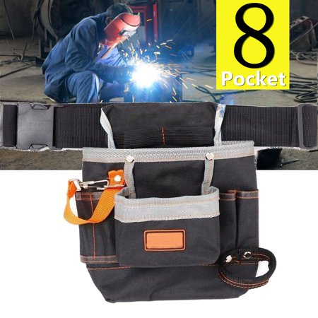 Bestller Multi-functional Electric Tool Pouch Bag 8 Pocket with Waist Belt for Wrench Hammer Screwdriver
