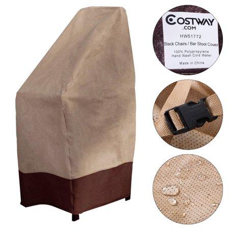 Costway Waterproof Bar Stool Cover Outdoor Patio Garden