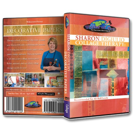 "Sharon DiGiulio - Video Art Lessons ""Collage Therapy: Decorative Paper"" DVD"