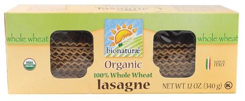 Bionaturae Organic 100% Whole Wheat Pasta Lasagna 12 oz by Bionaturae