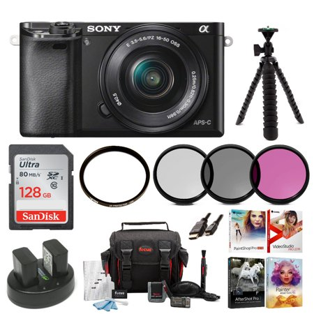 Sony Alpha a5100 Mirrorless Camera (Black) with 16-50mm Lens Bundle