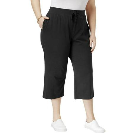 Karen Scott Womens Plus Knit Casual Capri Pants