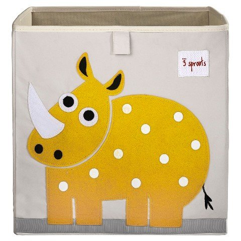 3 Sprouts Fabric Cube Storage Bin - Rhino, Ship from USA,...