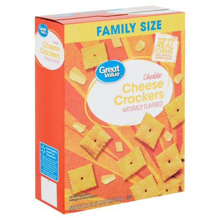 Great Value Cheddar Cheese Baked Snack Crackers, 21 Oz.