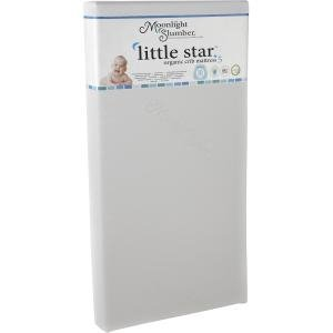 LITTLE STAR ORGANIC CRIB MATTRESS 2SIDED REMOVBLE CVR WTRPRF ()