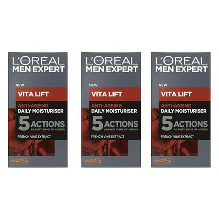 L'Oreal Men's Expert Vita Lift Anti Aging Daily Moisturizer, 50 ml (1.7 Oz) (Pack of