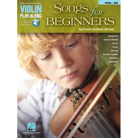 Songs for Beginners : Violin Play-Along Volume 50