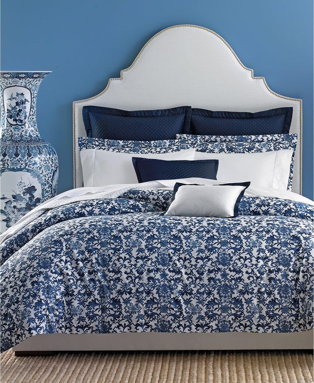New $330 Ralph Lauren Dorsey Archival Navy White King Comforter