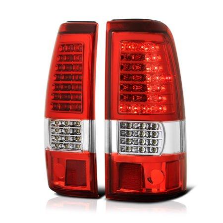VIPMOTOZ C-Shape Full-LED Tail Light Lamp Assembly For 2003-2006 Chevy Silverado 1500 2500 3500 Pickup Truck, Driver & Passenger Side 3500 Truck Chevy Truck