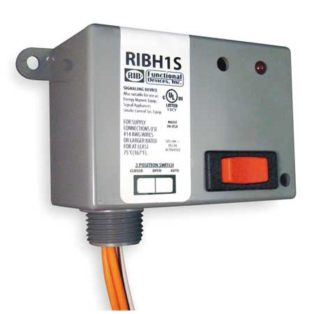FUNCTIONAL DEVICES INC / RIB RIBH1S Enclosed Pre-Wired Relay, SPST, 10A@277VAC