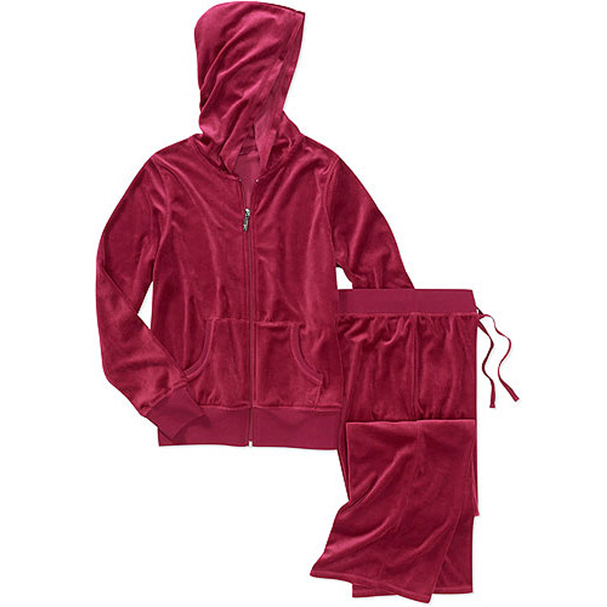Danskin Now Women's Velour Hoodie and Pants Tracksuit