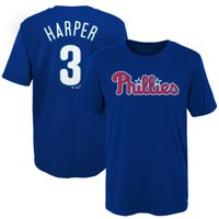 Bryce Harper Philadelphia Phillies Majestic Youth Name & Number T-Shirt - Royal