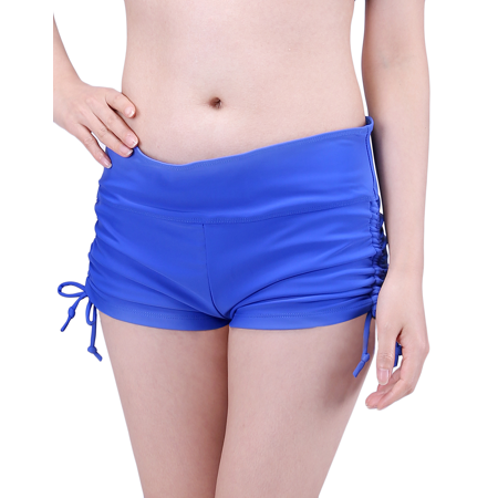 Athletic Swim Brief (HDE Womens Swim Brief with Ties Mini Boy Short Bikini Bottoms Swimsuit)