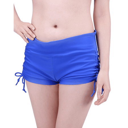 Brief Swim Bottom (HDE Womens Swim Brief with Ties Mini Boy Short Bikini Bottoms Swimsuit)