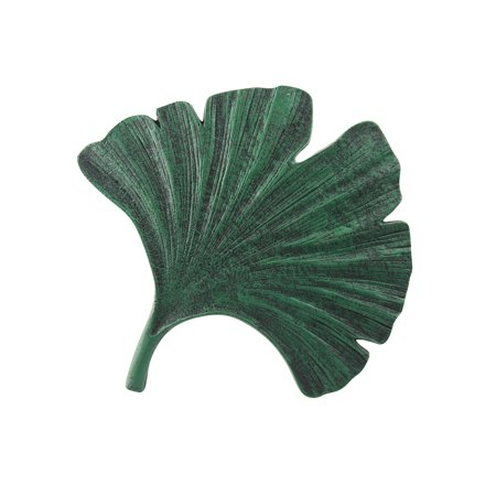Art & Artifact Gingko Leaf Stepping Stone - Cast Iron Garden and Yard Decor ()