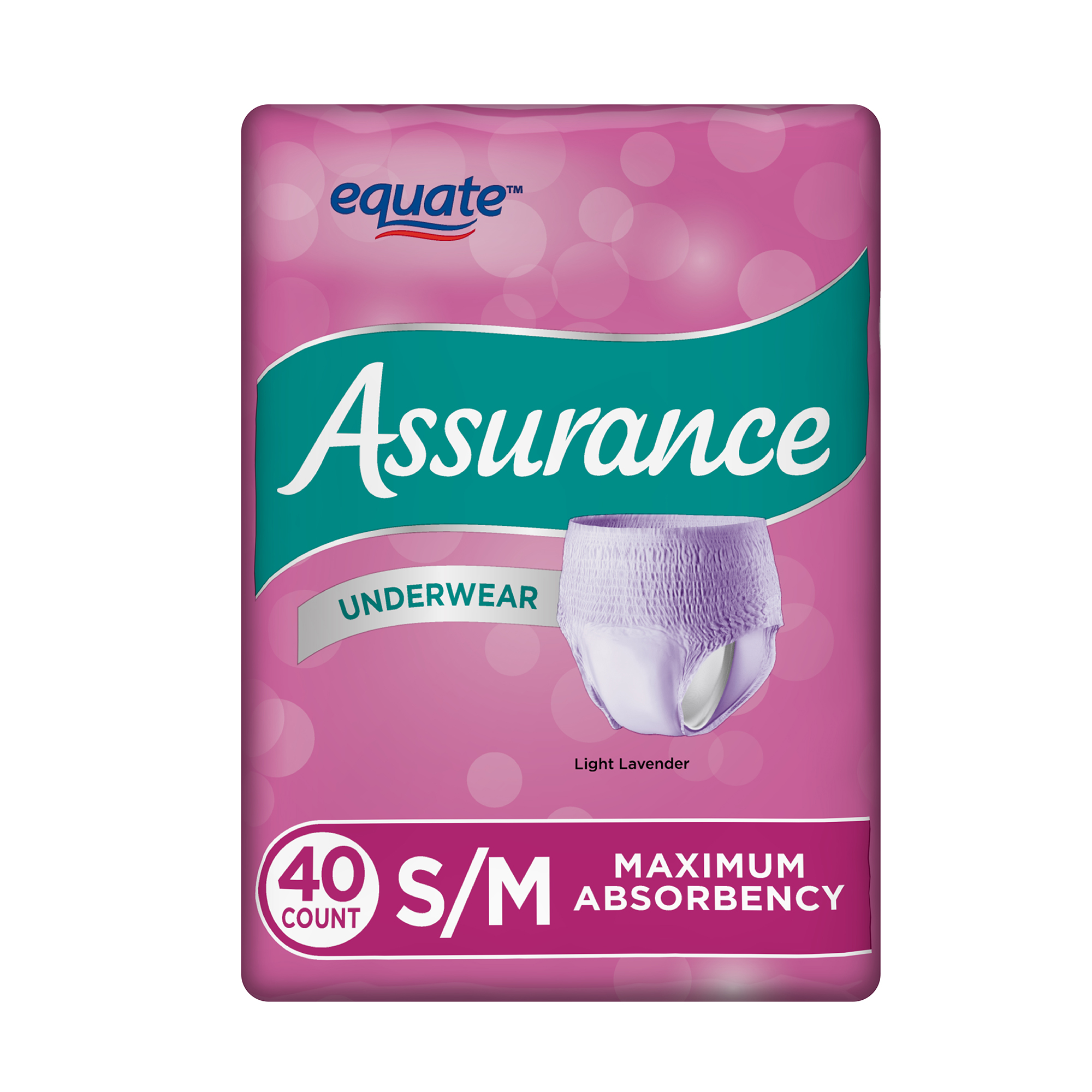 Assurance Incontinence Underwear for Women, Maximum, S/M, 40 Ct