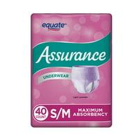 Assurance Incontinence Underwear for Women, Maximum, S/M, 40 Ct
