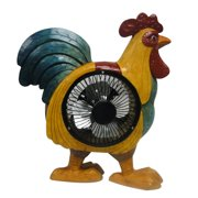 12 Inch Rooster Decoration With Fan
