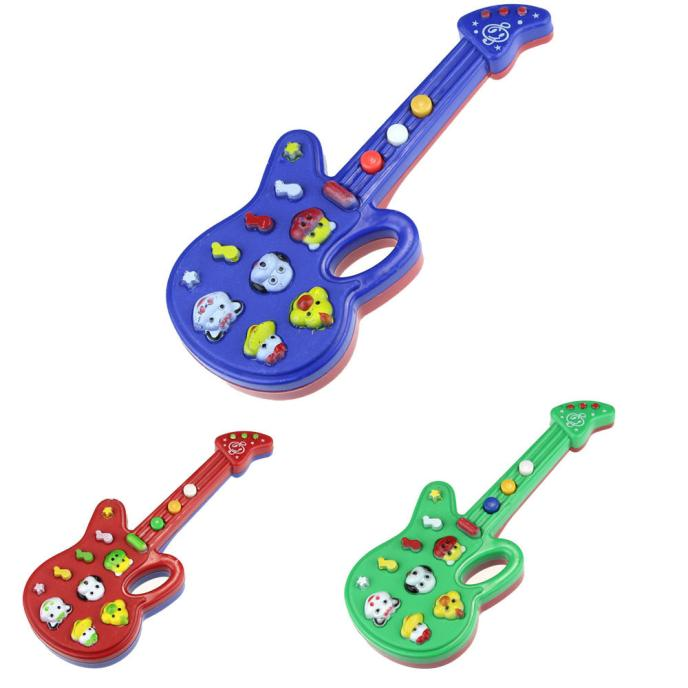 Outtop Electronic Guitar Toy Nursery Rhyme Music Children Baby Kids
