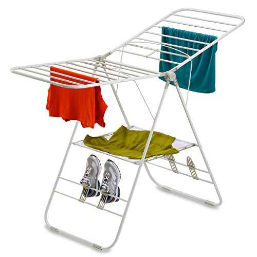 Honey Can Do Heavy-Duty Folding Gullwing Laundry Drying Rack, White