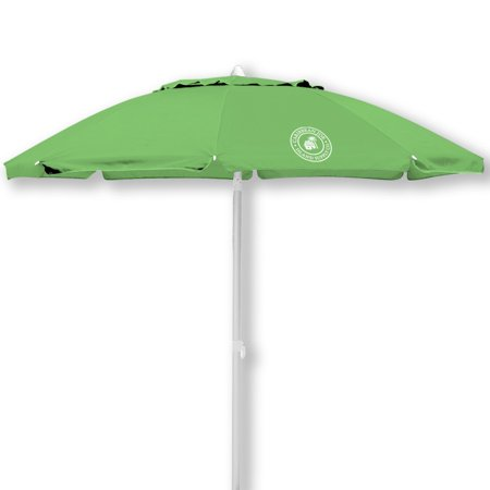Caribbean Joe 6.5' Tilting Double Canopy Beach Umbrella with Case