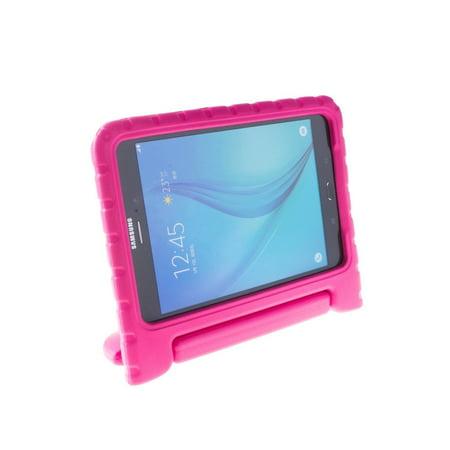 Galaxy Tab E 8.0 T377 Kids Case by KIQ Child-Friendly Fun Kiddie Tablet Cover EVA Foam For Samsung Galaxy Tab E 8 inch SM-T377 (Hot Pink) ()