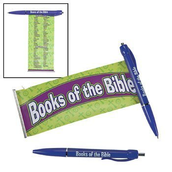 Religious Pens (Religious Books Of The Bible Scroll Pen - Teaching Supplies & Stationery & Pens & Pencils )