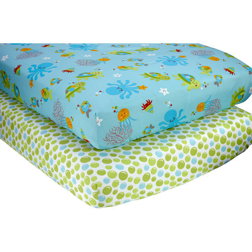 Little Bedding by NoJo Ocean Dreams Set of 2 Crib Sheets