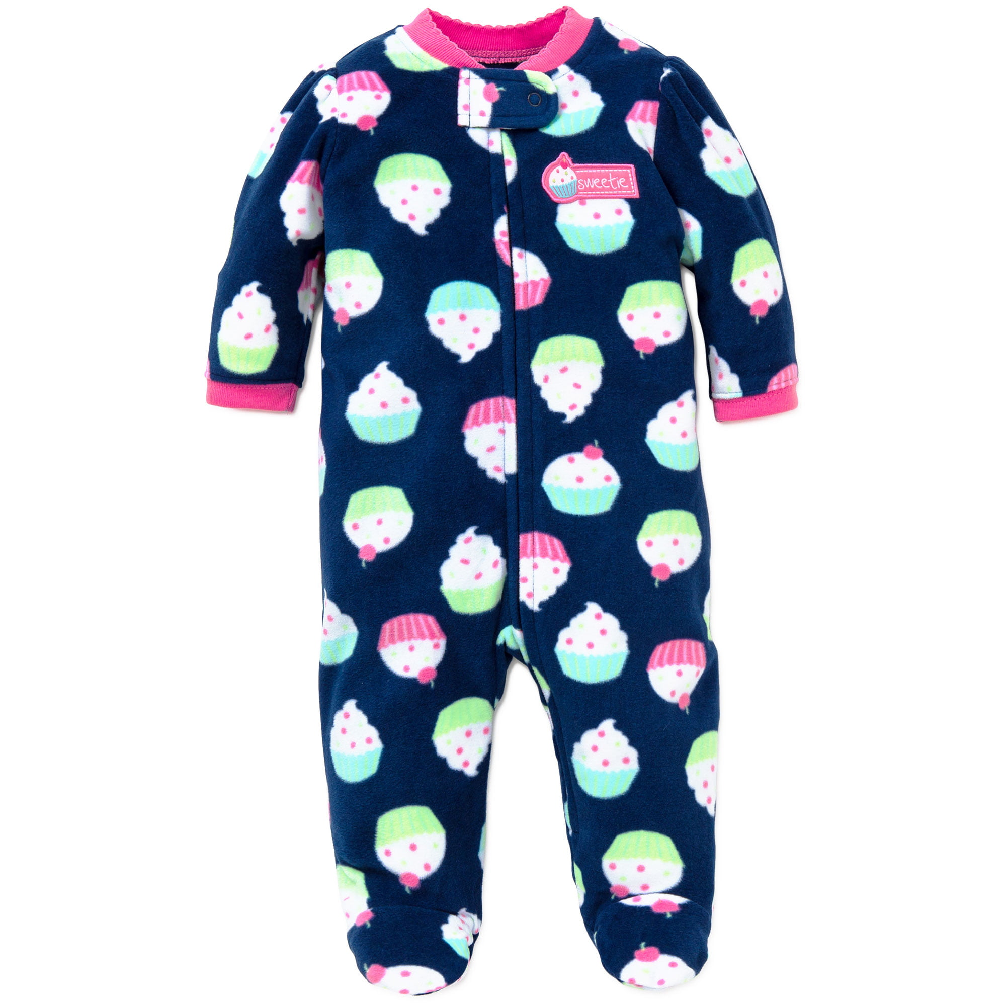 103af7104 Little Me - Little Me Cupcake Blanket Sleeper Footie Winter Pajamas ...