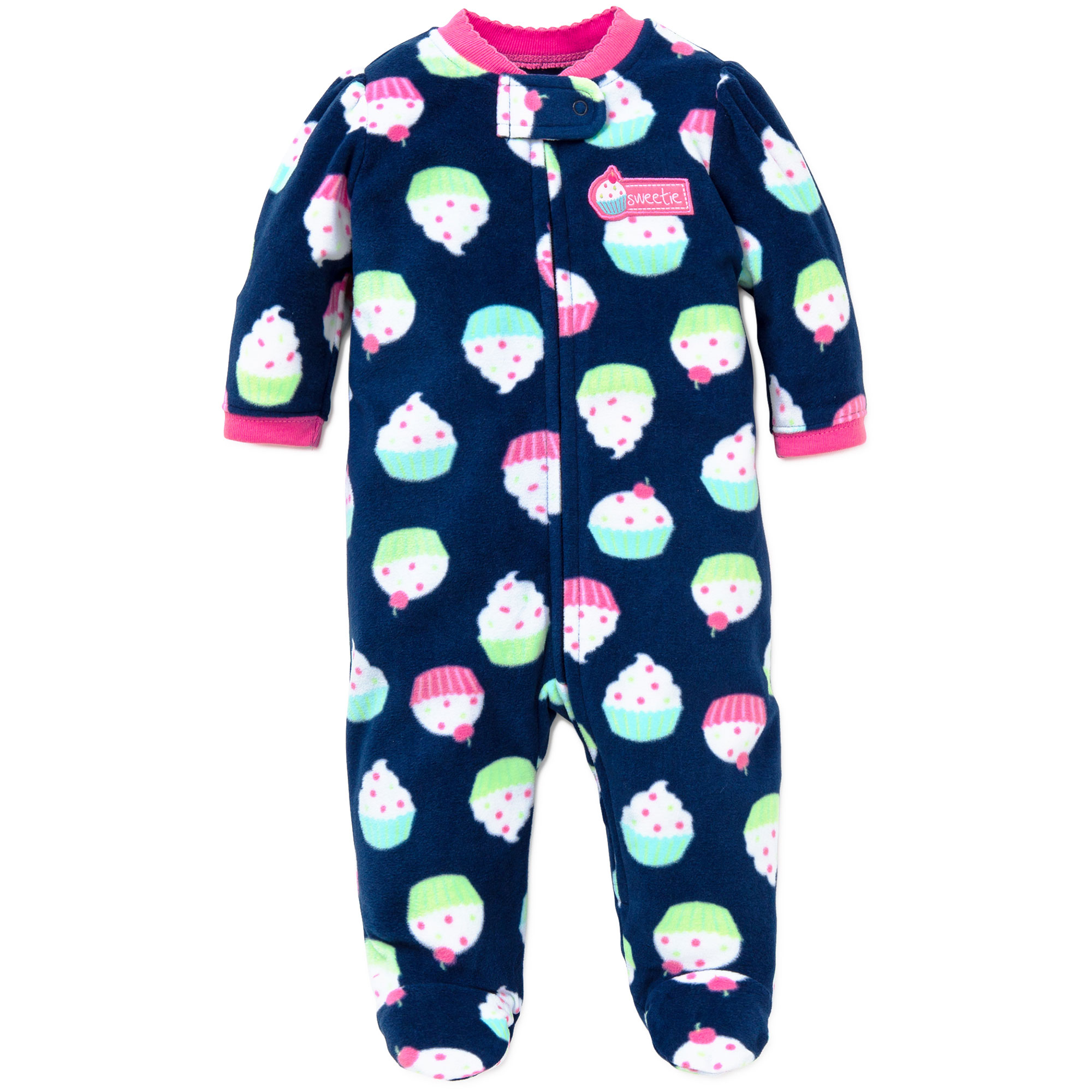 5dc22a390 Little Me - Little Me Cupcake Blanket Sleeper Footie Winter Pajamas ...