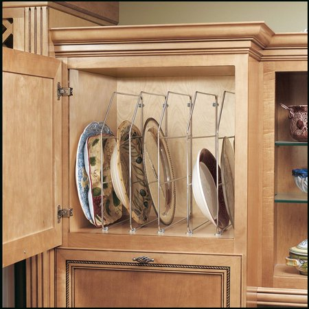 Chrome Home Single - Rev-A-Shelf - 597-18CR-52 - Single 18 in. Chrome Bakeware and Tray Divider, (1) 18 high organizer with mounting clips By RevAShelf