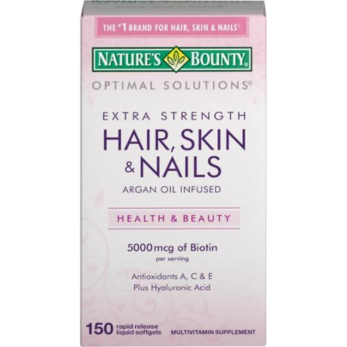Natures Bounty 5000 Mcg Of Biotin Hair Skin And Nails Caplets - 150 Ea