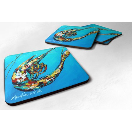 Set of 4 Shrimp Baby Shrimp Foam Coasters