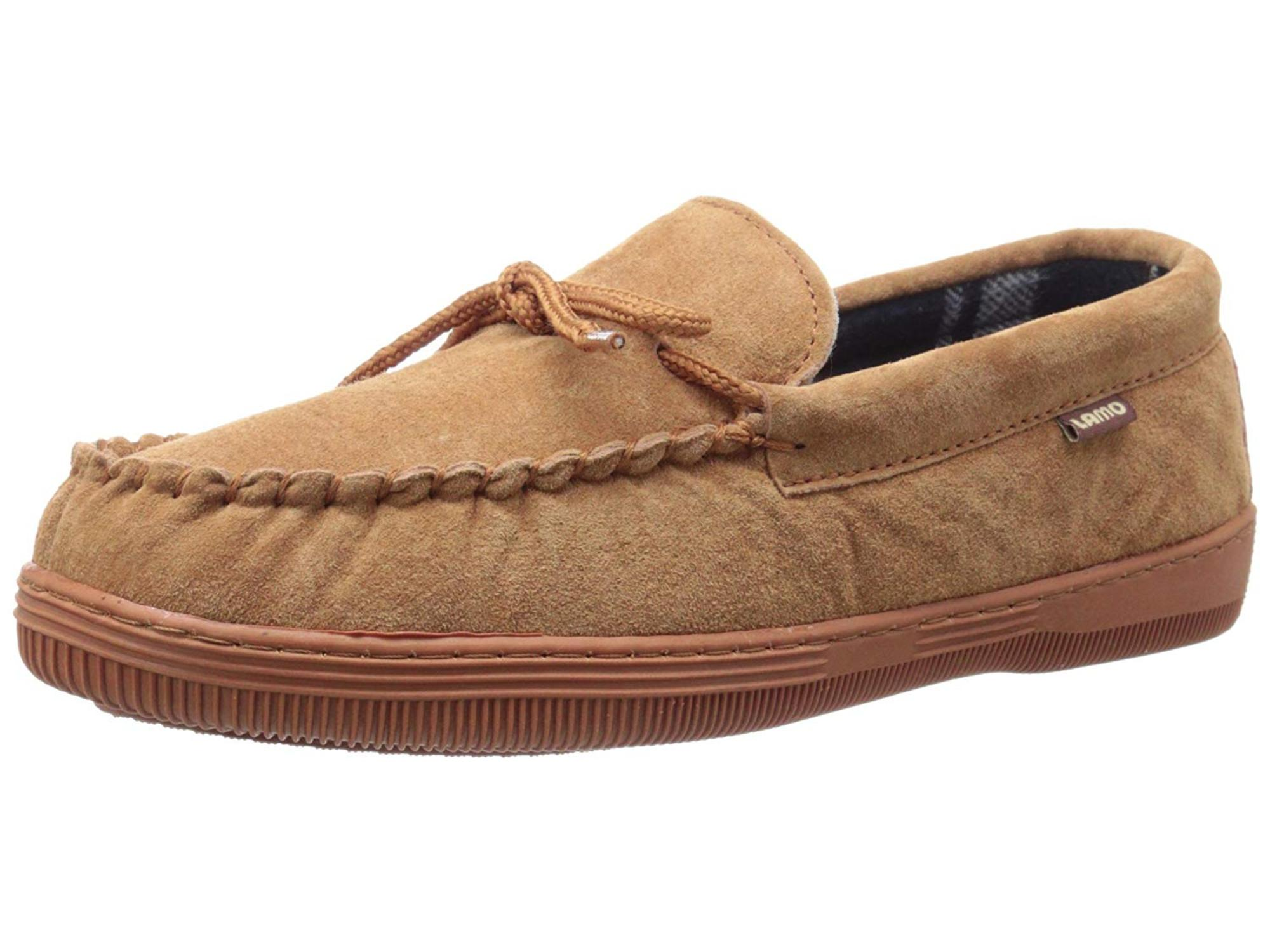 Lamo Men's Plaid Moccasins Slip-On Loafer, Chocolate, Size 8.0 by Lamo