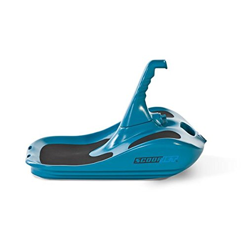 ScoopJet Flow Carver Ergonomic Race & Fun Minibob (Blue) Snow Sled for adults by Scoopjet