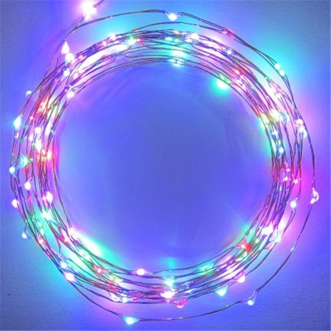20 LED Fairy String Light Battery Operated Copper Wire, Multicolor Non Blinking by Perfect Holiday
