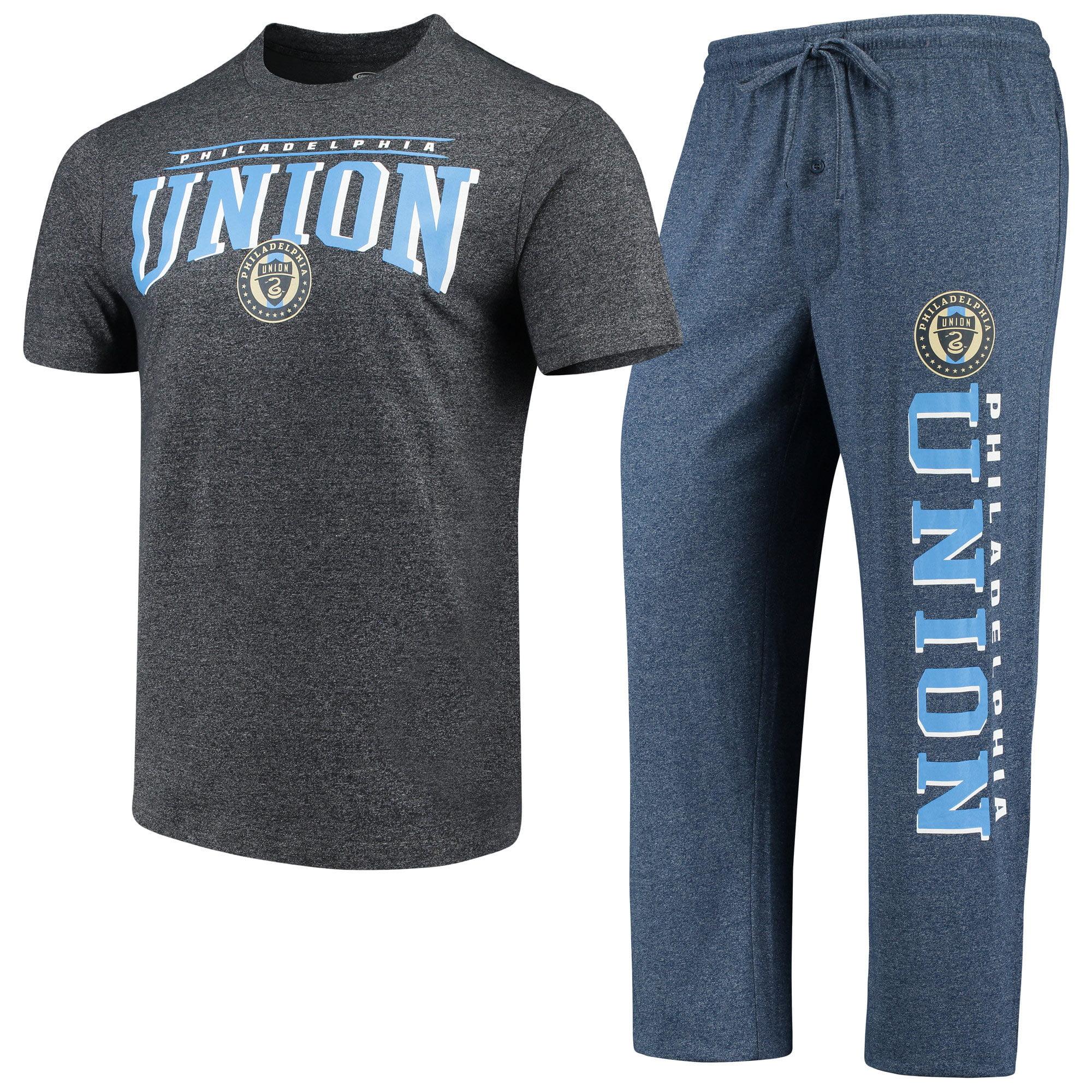 Philadelphia Union Concepts Sport Spar Pants & Top Sleep Set - Navy/Charcoal