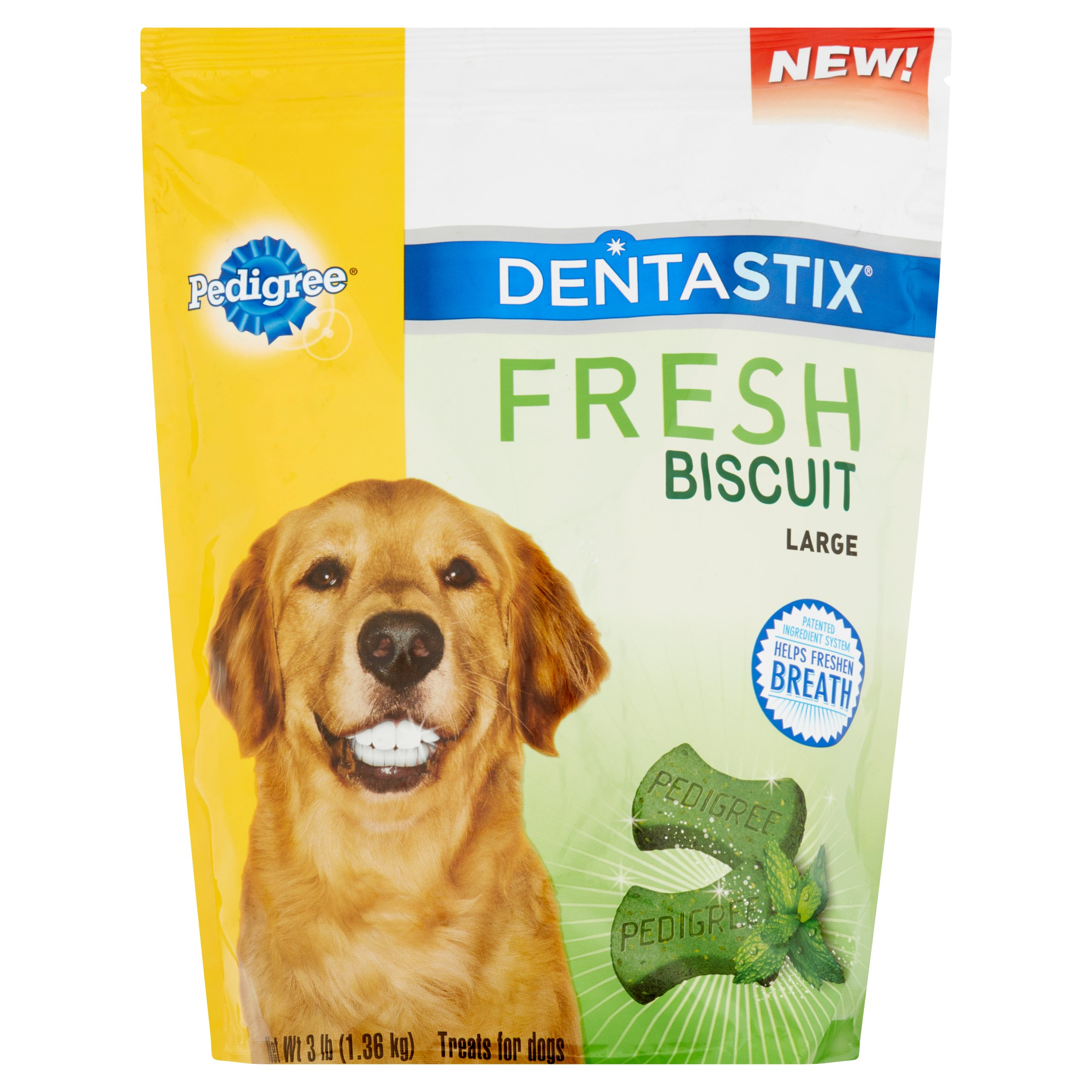 Pedigree Dentastix Fresh Biscuit Large Dog Treats, 3 Lb. by Mars Petcare Us
