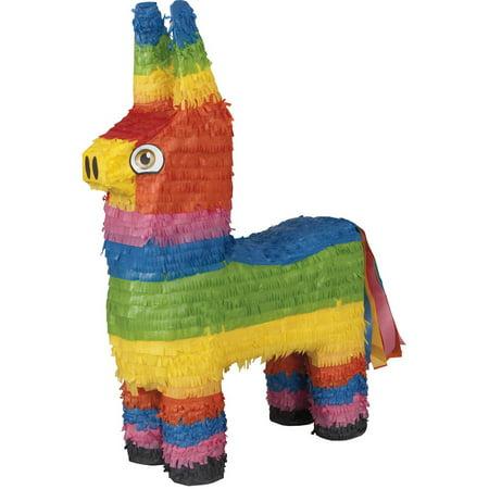 Donkey Pinata, Multicolor, 14in x - Deer Pinata