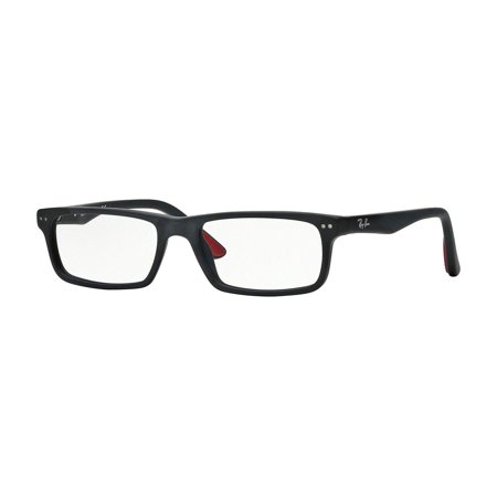 Ray-Ban 0RX5277 Rectangle Eyeglasses for Unisex - Size - 54 (Sandblasted Black)