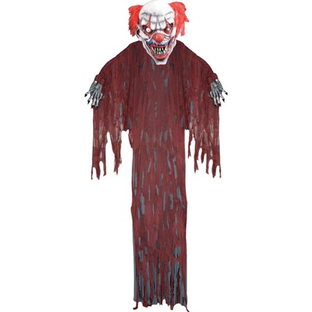 Morris Costumes New Startling Scary Hanging Evil Clown Prop 12 Foot, Style FM64176