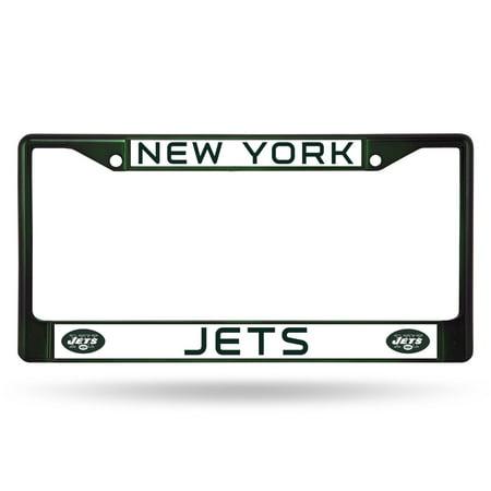 (Rico Industries NFL Color License Plate Frame, New York Jets)