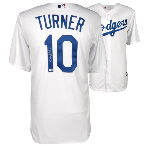 Justin Turner Los Angeles Dodgers Fanatics Authentic Autographed Majestic White Replica Jersey - No Size